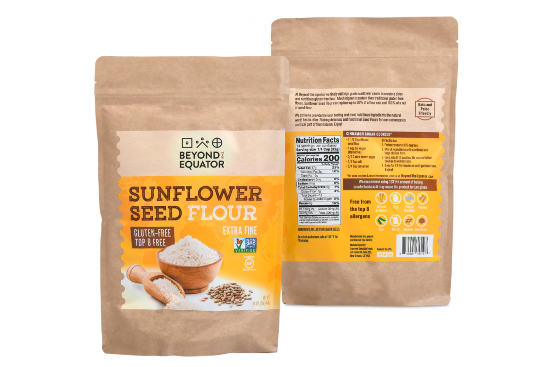 Beyond the Equator Announces Launch of Sunflower Seed Flour