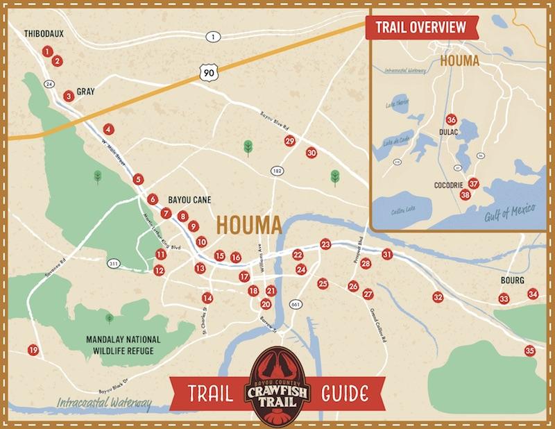 Houma Area CVB Announces Bayou Country Crawfish Trail