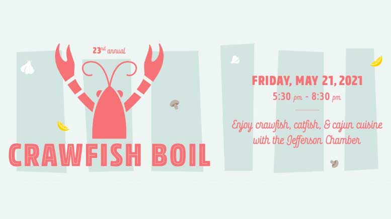 Jefferson Chamber Invites You to 23rd Annual Crawfish Boil