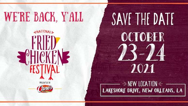 National Fried Chicken Festival Organizers Announce New Location for 5th Anniversary Event in October 2021