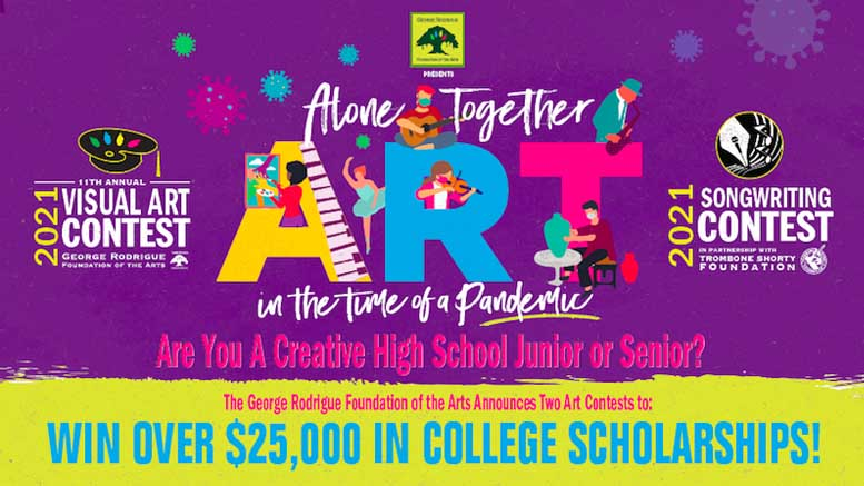 The George Rodrigue Foundation of the Arts Announces Annual Visual Arts and Songwriting Contest Winners