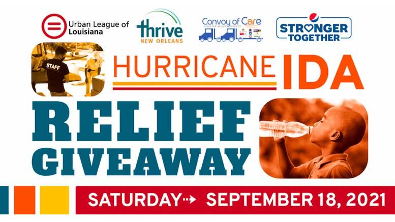 Hurricane Ida Giveaway Saturday, September 18th